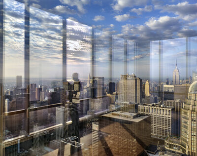 Matthew Pillsbury, 'Nate's reflection at dawn, One57', 2016