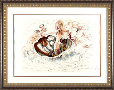 "Salvador Dalí, '""Sirens & the Sailor ""  Hand Signed Salvador Dali Lithograph', 1941-1957"