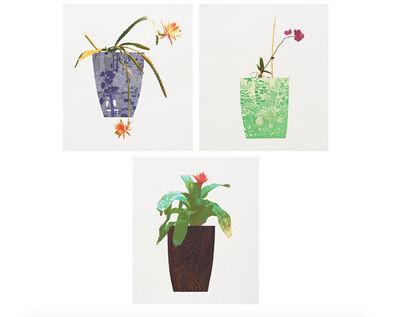 Jonas Wood, 'Three Landscape Pots: Night Bloom, Orchid, Bromeliad (complete set)', 2019