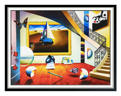 Ferjo, 'Ferjo Large Original Painting On Canvas Signed Interior Miro Fernando Oliveira', 20th Century