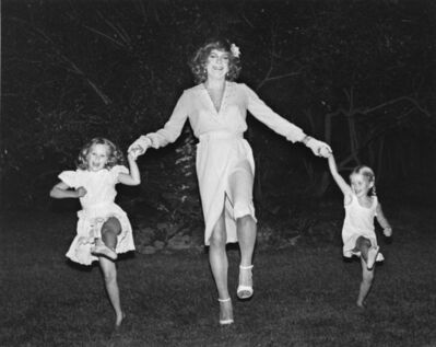 Mariette Pathy Allen, 'Vicky West Dancing the Cancan with My Daughters, Cori and Julia, Bridgehampton, NY', 1982