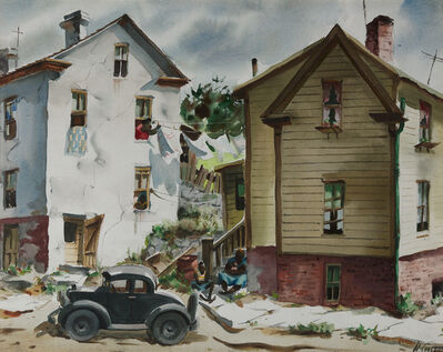 Henry Gasser, 'City Street with House'