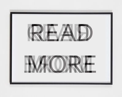 Christian Holtmann, 'Read more', 2017