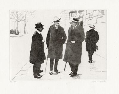 Peter Blake, 'James Stephens, Joyce and John Sullivan in Paris', 1983-1984