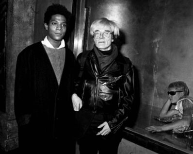 Ron Galella, 'Andy Warhol and Jean-Michel Basquiat at Area, New York', 1984