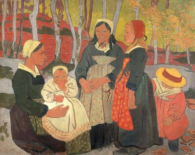 Paul Sérusier, 'Bretons in the forest of Huelgoat', 1893