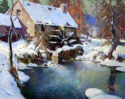 George Ames Aldrich, 'Winter Mill', ca. 1910