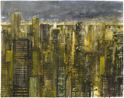 Gottfried Salzmann, 'New York at night I', 2014