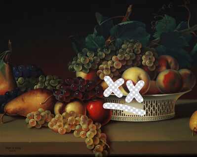 Shawn Huckins, 'Tiny Dissatisfied Still Life (Fruit In A Chinese Export Basket, White House Art Collection Erasure No. 29)', 2019