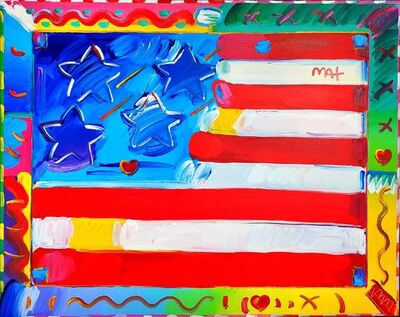 Peter Max, 'FLAG WITH HEART', 2015-2018