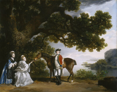 George Stubbs, 'Captain Samuel Sharpe Pocklington with His Wife, Pleasance, and possibly His Sister, Frances', 1769