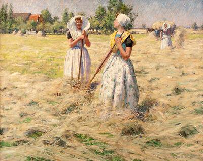 George Hitchcock, 'Haymakers, Zeeland, Netherlands', ca. 1890
