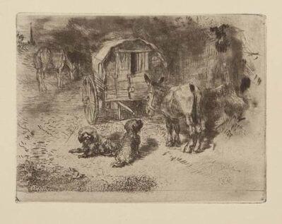 Félix Hilaire Buhot, 'Gardiens du logis / Les amis du saltimbanque', 1902