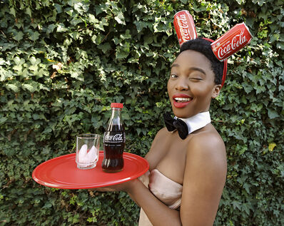 Tony Gum, 'Black Coca-Cola Series - Bunny Girl', 2015