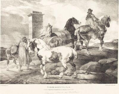 Théodore Géricault, 'Horses Going to a Fair', 1821