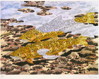 Neil G. Welliver, 'Trout and Reflections', 1980