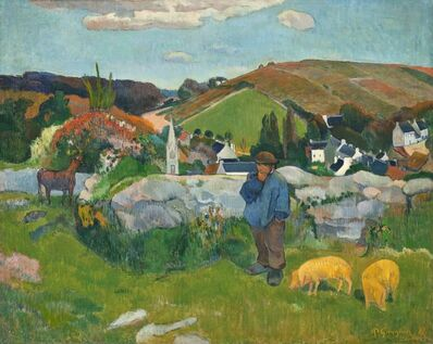 Paul Gauguin, 'The Swineherd', 1888