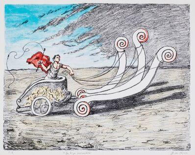 Giorgio de Chirico, 'La biga invincibile', 1972