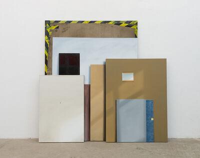 Jochen Mühlenbrink, 'Quadriennale Rohstoff, Triptychon IV', 2015