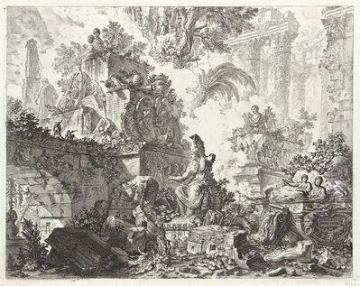 Giovanni Battista Piranesi, 'Vedute di Roma, frontespizio', circa 1748