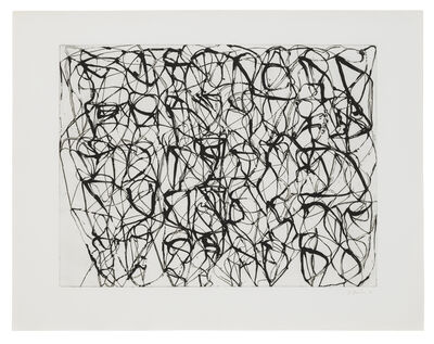 Brice Marden, 'Cold Mountain Series, Zen Studies: Plate 4 Early State', 1990