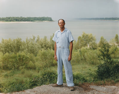 Joel Sternfeld, 'A Man on the Banks of the Mississippi, Baton Rouge, Louisiana, August 1985 ', 1985