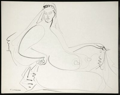 Gaston Lachaise, 'Seated Nude', ca. 1932