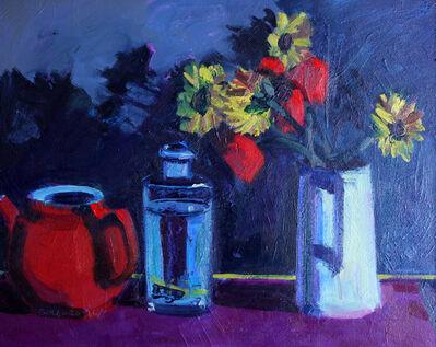 Brian Ballard, 'Flowers and Bottle', 2017