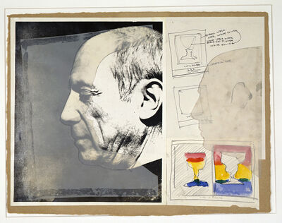 Jasper Johns, 'Sketch for Cups 2 Picasso / Cups 4 Picasso', 1970-1971