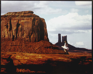Sam Haskins, 'Female Figure in South African Landscape', 1982/1982c