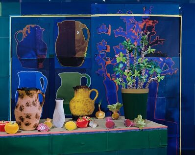 Daniel Gordon, 'Still Life with Vase Shadows and Vegetables', 2018
