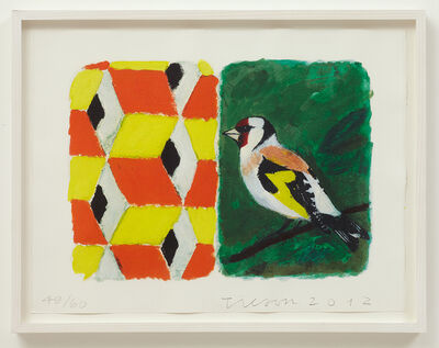 Joe Tilson, 'Stones of Venice Goldfinch, Diptych', 2012