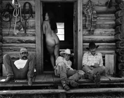 Kurt Markus, 'Olga and the Cowboys, Little Bear Ranch, Montana', 1994