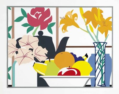 Tom Wesselmann, 'Still Life with Petunias, Lilies and Fruit', 1988