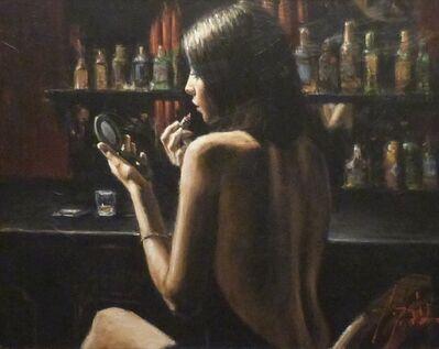 Fabian Perez, 'Lipstick and Mirror'