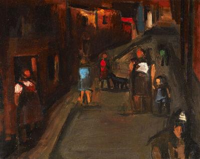 Josef Herman RA, 'Street Scene, Ystradgynlais', 1945