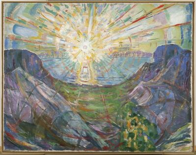 Edvard Munch, 'The Sun', 1910-1913