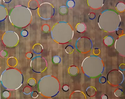 Petra Rös-Nickel, 'Funky Circles Grey', 2018