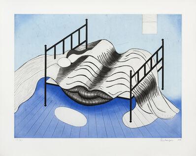 Louise Bourgeois, 'Le lit (fond bleu)', 1998