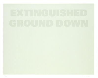 Remy Zaugg, 'Untitled (A)', 1986-1994