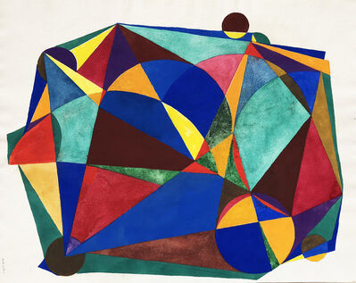 Böhm Lipót Poldi, 'Abstract composition', 1986