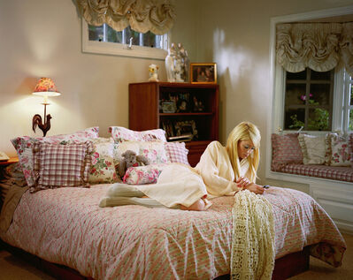 Larry Sultan, 'Paris on my Parents' Bed', 2007