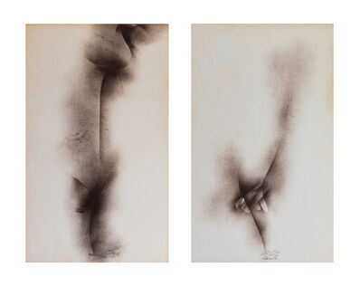 Norman W. Lewis, 'Untitled (Abstract Figure) Diptych', 1969