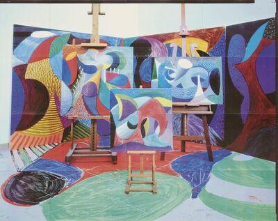 David Hockney, 'Painted environment II', 1993
