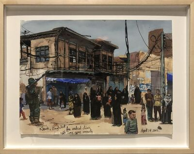 Steve Mumford, 'US Mobile Medical Clinic Attracting Iraqis, Baghdad', 2007