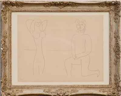 Pablo Picasso, 'Mes Dessins d'Antibes - Femme et Faune', 1958
