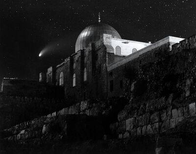 Neil Folberg, 'Temple Mount, Jerusalem (with Comet Hale-Bopp)', 1998