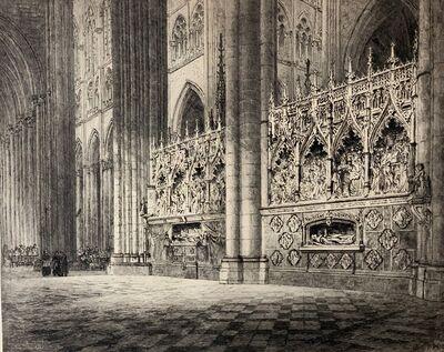 Axel Herman Haig, 'Cathedral d'Arniens', 1912