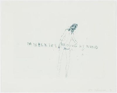 "Tracey Emin, 'TRACEY EMIN ""WALKING AROUND MY WORLD"" SIGNED & NUMBERED', 2011"