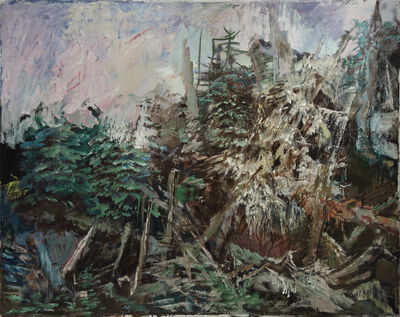 Hyman Bloom, 'Wooded Rocks', 1974